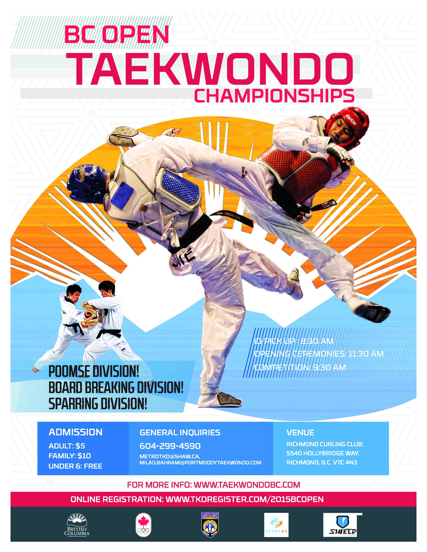 2015 BC Open Taekwondo Championships – W.T.F. Taekwondo ...